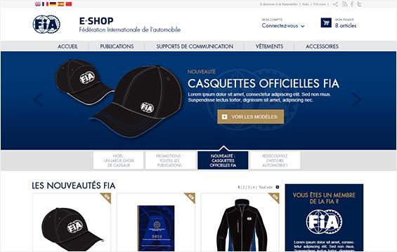 FIA<br /> E-shop