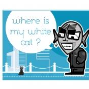 Where is my white cat ?