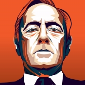 Franck Underwood portrait by ELFELIPE